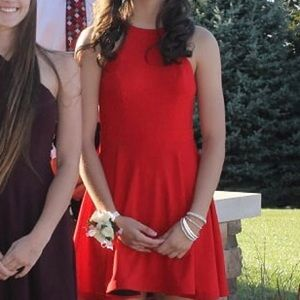 Used once short red homecoming dress